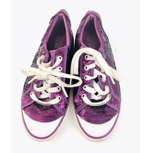 Coach Barrett Purple Sequence Shoes | SZ 6.5B